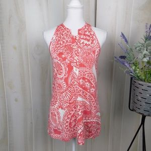 Lilly Pulitzer Pink Patterned Sleeveless Top